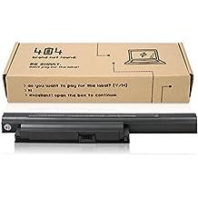 404Brand Batería del ordenador portátil para Sony Vaio VPCEE2M1E-WI (10.8V, 4400 mAh, negro, 6 celdas)