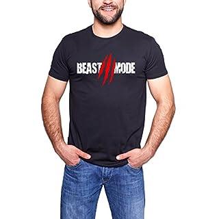 BEAST MODE MENS BODYBUILDING GYM MOTIVATION GOKU T-Shirt MMA WORKOUT TOP, Schwarz  (XXL)