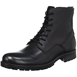 JACK & JONES Herren Jfworca Leather Black Klassische Stiefel
