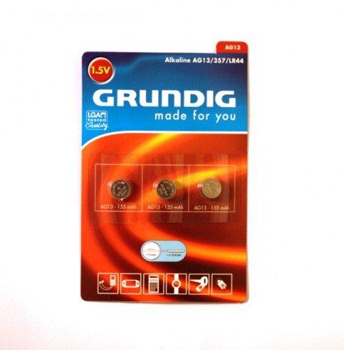 Grundig AG13-357/LR44 1.5V Alkaline Batterien 3er-Set 357-batterien