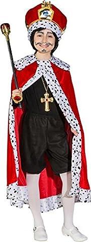 Kinderkönig Königsumhang für Kinder Prinz Prinzenumhang (152/164) (Krippenspiel König Kostüm)