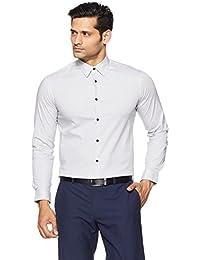 Arrow New York Men's Printed Slim Fit Cotton Formal Shirt