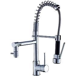 Réduction pour Prime Day: Auralum® Mitigeur évier Eurostyle Robinet de cuisine avec robinet douchette et mitigeur