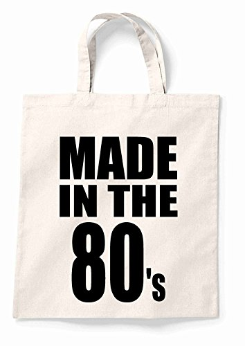 Made In The 80S Canvas Tote Shopping Bag