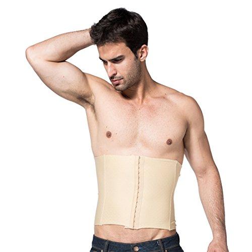 VIVOSUN Herren Taillenmieder Bauchgürtel Figurformende Shapewear Bauchweg Unterhemd Beige XXL