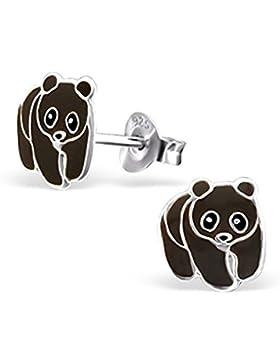 Schwarz Bär Ohrringe–Sterling Silber