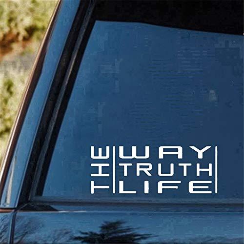 adesivo murale adesivo muro The Way Truth Life Christian Car Decal Window Sticker Personalità Accessori auto Moto casco Car Sty