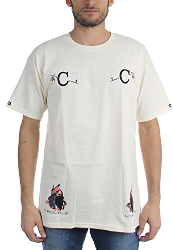 Crooks & Castles Herren T-Shirt Cremefarben