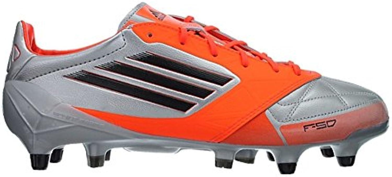 Adidas F50 adizero XTRX SG LEDER Fußballschuhe Herren Stollen Silber Orange