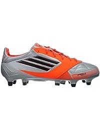 Adidas F50 Adizero SG - Botas de fútbol de cuero para hombre METSIL/BLACK1/INFRED