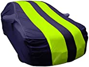 ARNV Branded Car Body Cover for Baleno Built Fabric, Comes with Pocket Mirror and Belt Blue & Ye