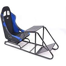 Game Seat für PC und Spielekonsolen Stoff schwarz/blau