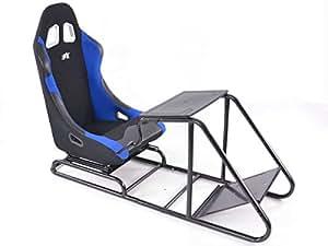 fauteuil simulation course gamer pour pc et consoles tissu noir bleu jeux vid o. Black Bedroom Furniture Sets. Home Design Ideas