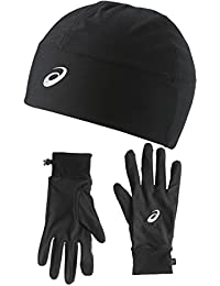 asics Performance Pack - Gants course à pied - Gloves and Beanie noir 2017 mitaines