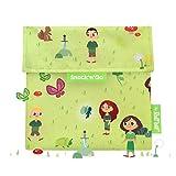 Roll'eat - Snack'n'go - Sac goûter, Snack, Sandwich - Sac écologique et réutilisable - sans BPA - Couleur: Vert, Motifs: forêt