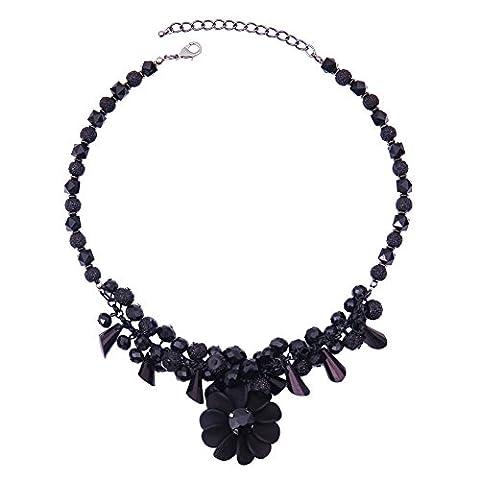 Vêtements Accessoires Fashion Necklace National Wind Mesdames fashion noir des armes à feu