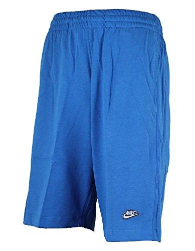 Nike Herren Shorts Mens Shorts Jersey Long 3D Logo Cotton Shorts Knee Length Black/Grey/Blue S M L XL New 558380 Blue