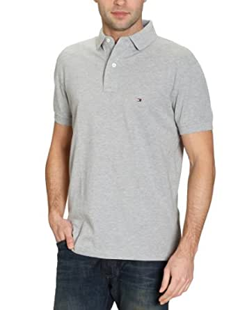 Tommy Hilfiger - Core - Polo - Uni - Homme - Gris - Taille S