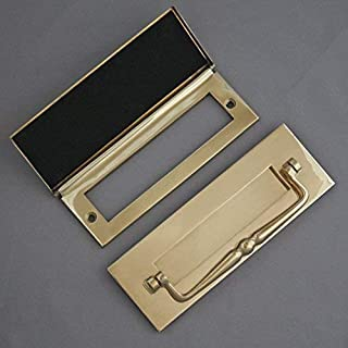 Traditional Brass Letterbox, Clapper & Tidy