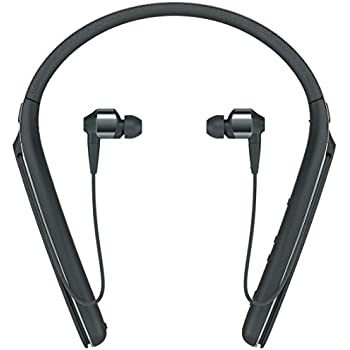 Sony WI-1000X Wireless Noise Cancelling Neck Band in-Ear Headphones (Black)