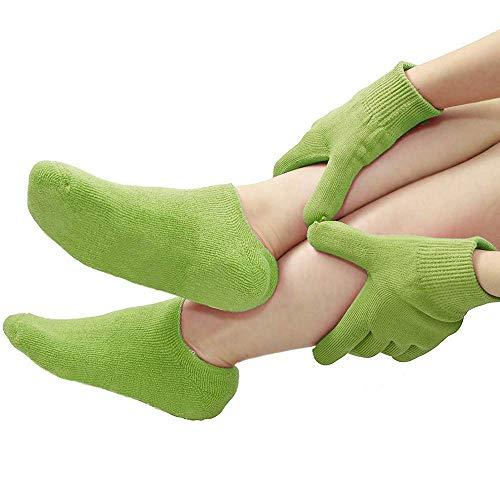 FORLADY Handmaske Fußmaske Handschuhe Fußaufhellung Feuchtigkeitsspendende Handschuhe Fußabdeckung Hand Fuß Feuchtigkeitsspendende Handschuhe Bleaching