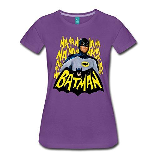 Spreadshirt DC Comics Batman Retro Schauspieler Titelsong Frauen Premium T-Shirt, XXL, Lila
