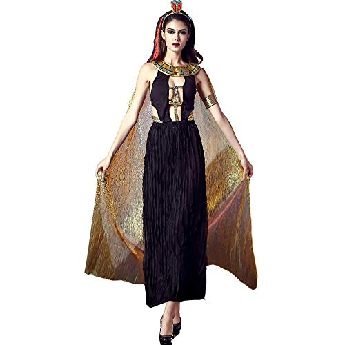 TTWL Halloween-Kostüm Umhang Altgriechischen Göttin Der Schlangen Königin Kleopatra Female Chef Cosplay M (Mumie Der Königin Für Erwachsene Kostüm)