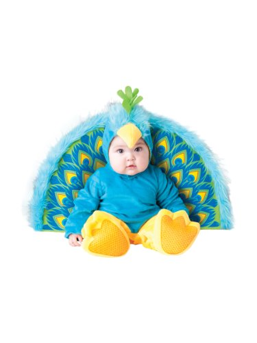Disfraz Pavo real para bebé - Premium 6-12 meses (74/80)