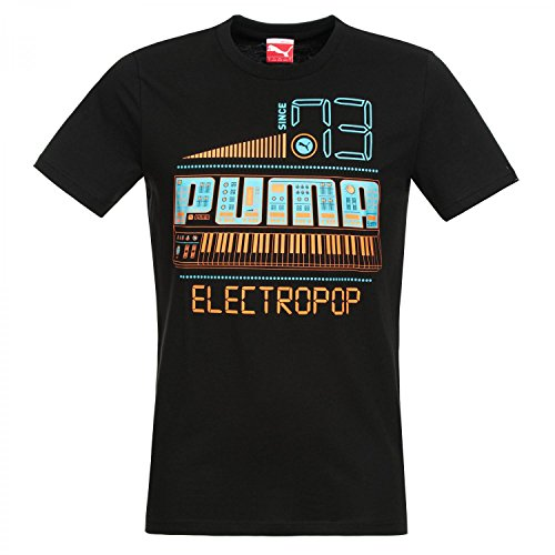 PUMA Herren T-Shirt Music Theme Tee Black