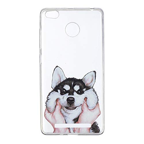 FugouSell Xiaomi Redmi 3S Case, [ Back Case ] [ Back Case ] [ Skins ] Protective Bumper Case Cover Shell, Husky