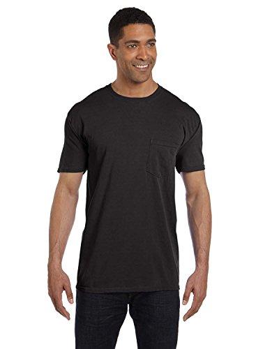 Komfort Farben Herren Garment Dyed Pocket T-Shirt Gr. XXX-Large, schwarz (Garment Washed Pocket T-shirt)