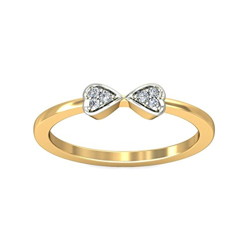 Belle Diamante 18K Gold and Diamond Ring  available at amazon for Rs.4297
