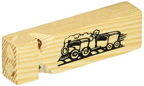 Pack of 5 Wooden Small Train Whistles
