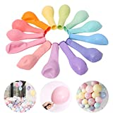 Ballon Pastel, HyAiderTech 100PCS Ballon Macaron Ballon Couleur Pastel Baudruche Pastel Latex pour Decoration Pastel Anniversaire Pastel Mariage Pastel Decoration Couleur Pastel Party Ballons