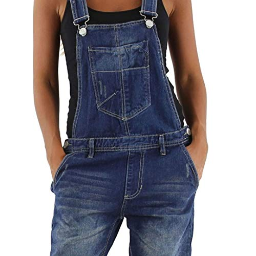 si moda si moda Damen Jeans Hose Baggy Boyfriend Latzhose Latzjeans Jumpsuit Overall Hüftjeans, Hosengröße:34