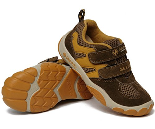 Modische Wildleder Klettband Gummi Sohle Unisex Kinder Warme Atmungsaktive Sneakers Braun