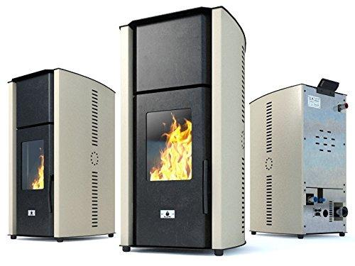 Estufa caldera de pellets Eco Spar modelo Hydro Auriga Salida de calor 25kW