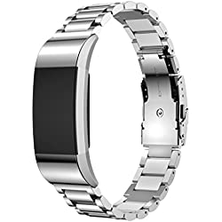 For Fitbit Charge 2 Replacement Band ,Fulltime(TM) Genuine Stainless Steel Bracelet Smart Watch Band Strap For Fitbit Charge 2