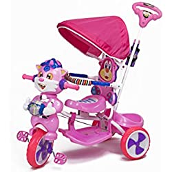 Luusa Falcon Kids Tricycle - Pink And White