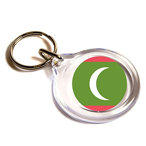 Preisvergleich Produktbild Flagge für die Malediven Emoji Schlüsselanhänger / Flag for Maldives Emoji Key Ring