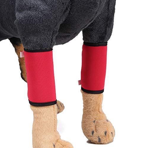 Ayuda de las polainas del perro, pierna roja del animal doméstico lesión de la articulación cirugía de la recuperación correas del perro ayuda de la debilidad de la pierna del perro ( Tamaño : S )