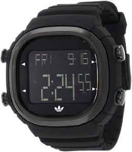 Adidas Originals ADH2045 - Reloj digital de cuarzo para hombre con correa de caucho, color negro de adidas Originals