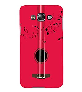FIOBS music lovers amazing guitar pink theme strings musicnotes playing Designer Back Case Cover for Samsung Galaxy E5 (2015) :: Samsung Galaxy E5 Duos :: Samsung Galaxy E5 E500F E500H E500Hq E500M E500F/Ds E500H/Ds E500M/Ds
