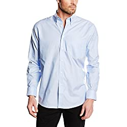 Fruit of the Loom Oxford - Camisa Hombre, Azul (Oxford Blue), X-Large