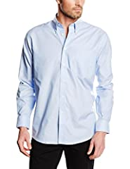 Idea Regalo - Fruit of the Loom Oxford, Camicia Uomo, Blu (Oxford Blue), Large
