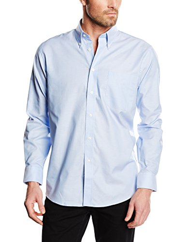 Fruit of the loom oxford, camicia uomo, blu (oxford blue), small