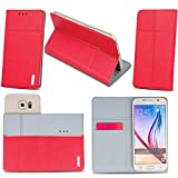 Supercase24 Meizu Pro 6 Plus Handy Tasche Book Case Klapp Cover Schutz Etui Hülle in rot