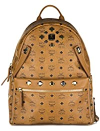 MCM sac à dos femme en cuir dual stark marron