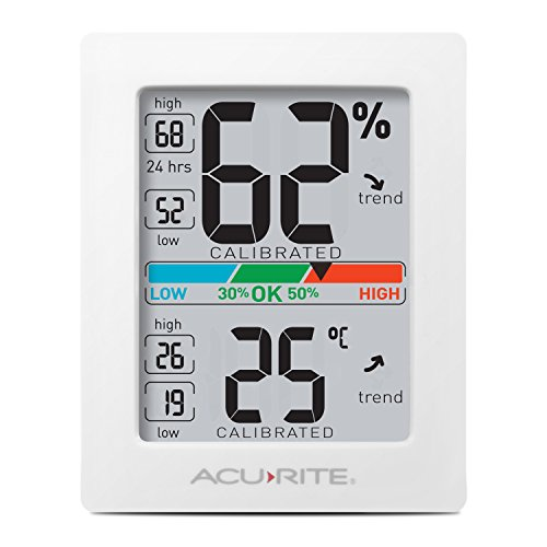 AcuRite 77004EM Pro Accuracy Indoor Temperature and Humidity Monitor