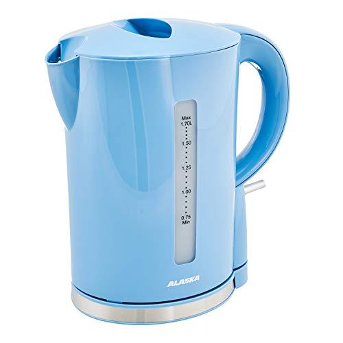 ALASKA Wasserkocher retro WK 2209 DSB | Blau | 1,7 Liter | Anti-Kalk-Filter | Kabelaufwicklung | Wasserstandsanzeige | 2.200 Watt